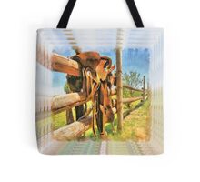 """ Paint Your Saddle "" Tote Bag"