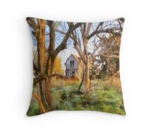 """ Old House Painted "" Throw Pillow"