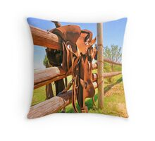 Saddle Up Throw Pillow