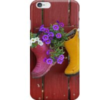 Garden Boot Planters iPhone Case/Skin