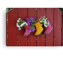 Garden Boot Planters Canvas Print