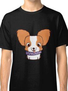 Cute little papillon puppy Classic T-Shirt