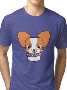 Cute little papillon puppy Tri-blend T-Shirt