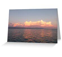 Greek Sunset Greeting Card