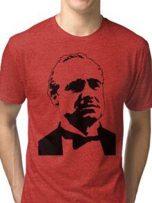 DON CORLEONE-GODFATHER-BRANDO-GRAPHIC PORTRAIT Tri-blend T-Shirt