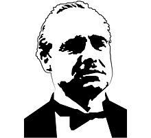 DON CORLEONE-GODFATHER-BRANDO-GRAPHIC PORTRAIT Photographic Print