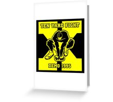 ten yard fight demo 1995 Greeting Card