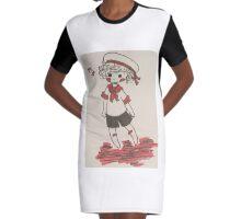 Sailor Boy Graphic T-Shirt Dress