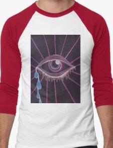 Trippy Eye Men's Baseball ¾ T-Shirt