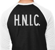 H.N.I.C. Head Nigga In Charge [White Ink] | FRESH Men's Baseball ¾ T-Shirt