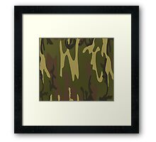 Army Camo Camouflage Pattern  Framed Print