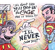 Man of Steel vs. The Mouse from Hell by Lincke