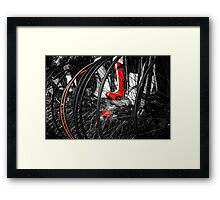 Penny Farthing Red Boots Framed Print