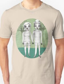 gymnast couple in the forest Unisex T-Shirt