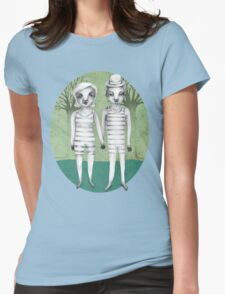 gymnast couple in the forest Womens Fitted T-Shirt