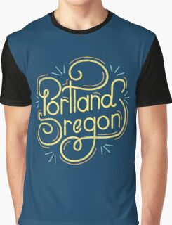 Portland Oregon Typography 2 Graphic T-Shirt