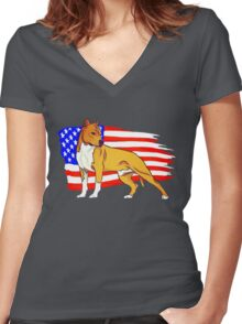 American Staffordshire Women's Fitted V-Neck T-Shirt