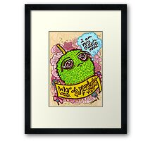 Spiky Sweetness Framed Print