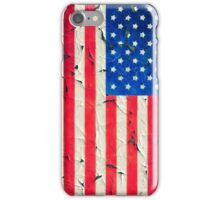 Peeling painting USA flag iPhone Case/Skin