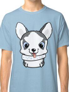 Cute little siberian husky puppy Classic T-Shirt