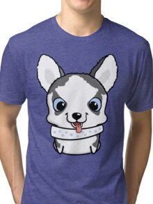 Cute little siberian husky puppy Tri-blend T-Shirt