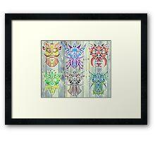The Six Gods Framed Print