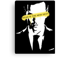 Jim Moriarty Dead is the new sexy Canvas Print