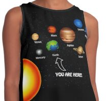 Space Solar System Funny T-Shirt Contrast Tank
