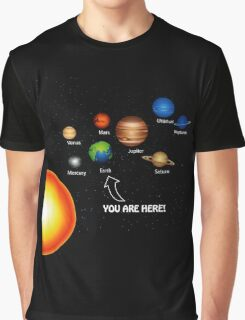 Space Solar System Funny T-Shirt Graphic T-Shirt