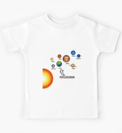 Space Solar System Funny T-Shirt Kids Tee