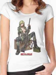 metal gear sniper wolf Women's Fitted Scoop T-Shirt