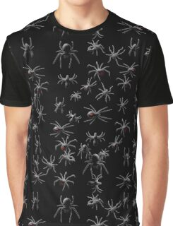 Creepy Spiders Pattern Graphic T-Shirt