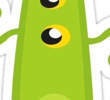 Crazy Green Monster Sticker