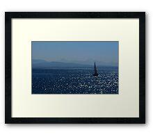 Symphony Of Blue Framed Print