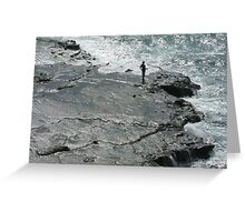 Cliff Fishing In Japan Greeting Card
