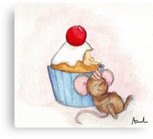 Cupcake Mouse Canvas Print