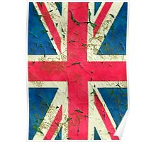 Peeling painting United Kingdom flag Poster