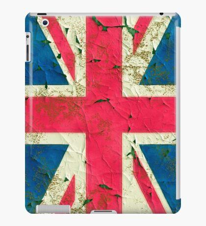 Peeling painting United Kingdom flag iPad Case/Skin