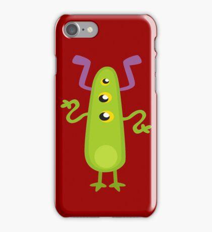 Crazy Green Monster iPhone Case/Skin