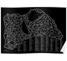 Race Tracks to Scale (Inverted) Poster