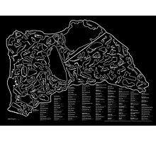Race Tracks to Scale (Inverted) Photographic Print