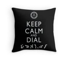 Keep Calm and Dial Earth Throw Pillow