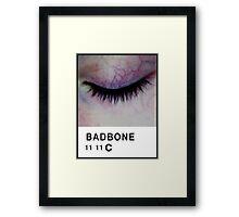 Bad Bone (Pantone) Closed Eyelid 11:11 Framed Print