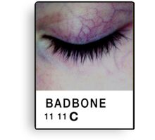 Bad Bone (Pantone) Closed Eyelid 11:11 Canvas Print