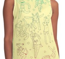 Animal Dance Party Contrast Tank