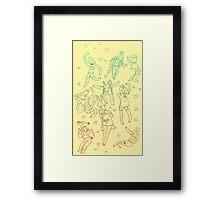 Animal Dance Party Framed Print