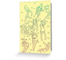 Animal Dance Party Greeting Card