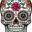 Colorful Floral Skull by artonwear