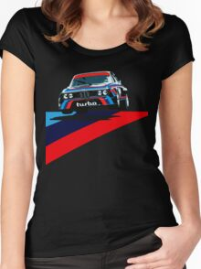 Retro Racing Women's Fitted Scoop T-Shirt