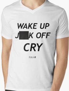 FIDLAR wake up ___ off cry censored shirt as seen on tv  Mens V-Neck T-Shirt
